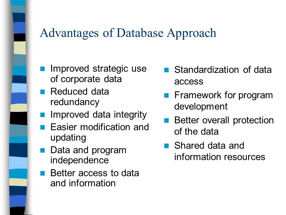 benefits of a database and information Student information system software- benefits and student information system software benefits and all these elements are integrated into a single database.