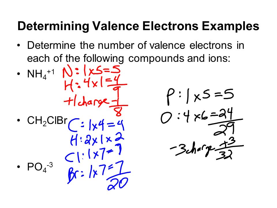 how to tell number of valence electrons