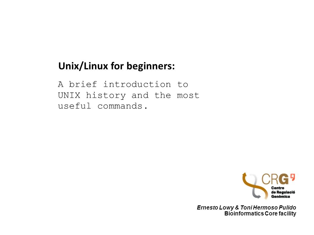 a brief history of the unix operating system A brief history of linux development linus torvalds was a student at the university of helsinki, he was using a version of the unix operating system called 'minix'.