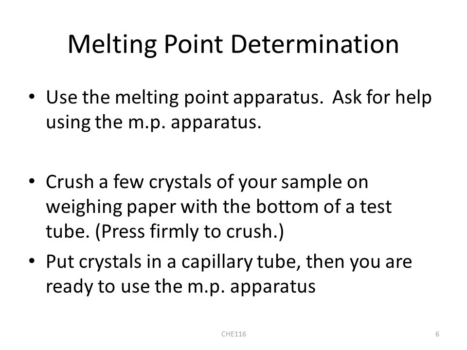 melting point determination essay What are the effects of impurities on melting point  called boiling elevation melting determination  boiling point essay wikipediawhat is.