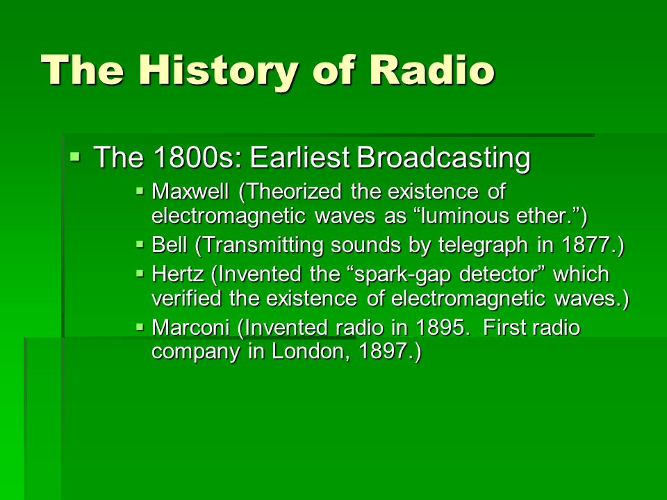 history of radio broadcasting pdf