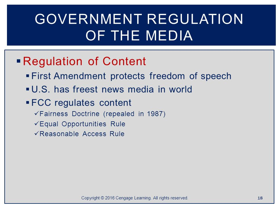 government regulation of media There is a 35 point gap between republicans who believe that government regulation of business usually does more harm than good and the number of democrats who.
