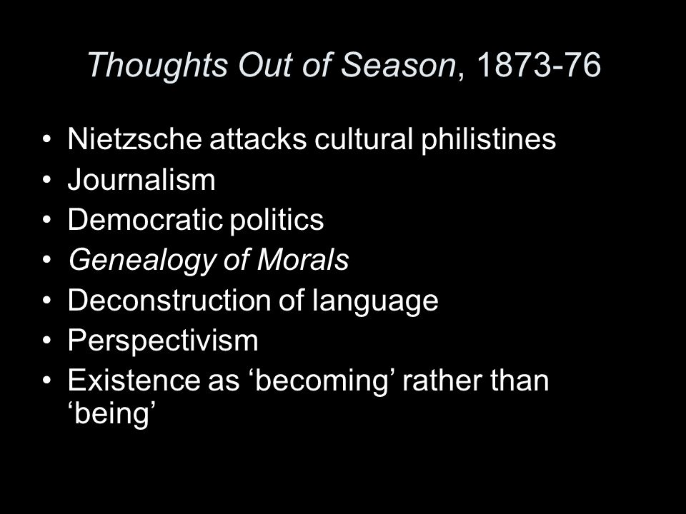 Thoughts Out of Season, 1873-76