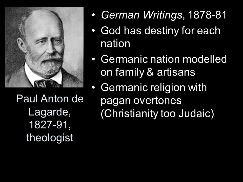 Paul Anton de Lagarde, 1827-91, theologist