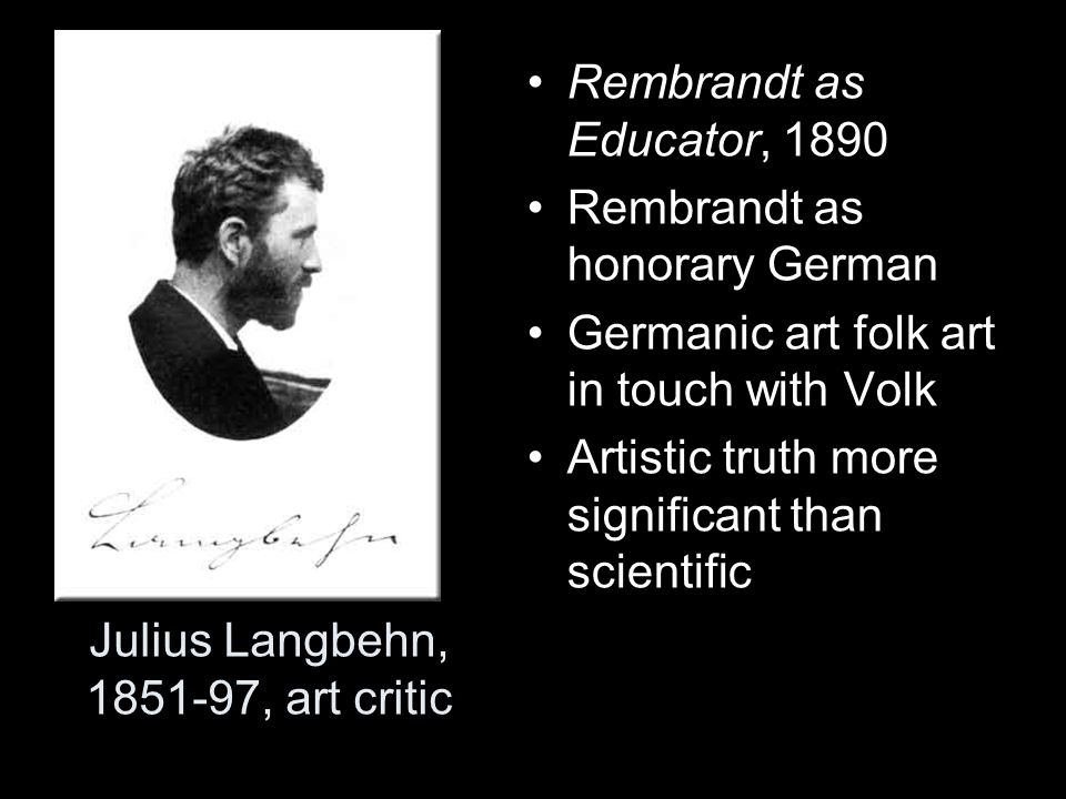 Julius Langbehn, 1851-97, art critic