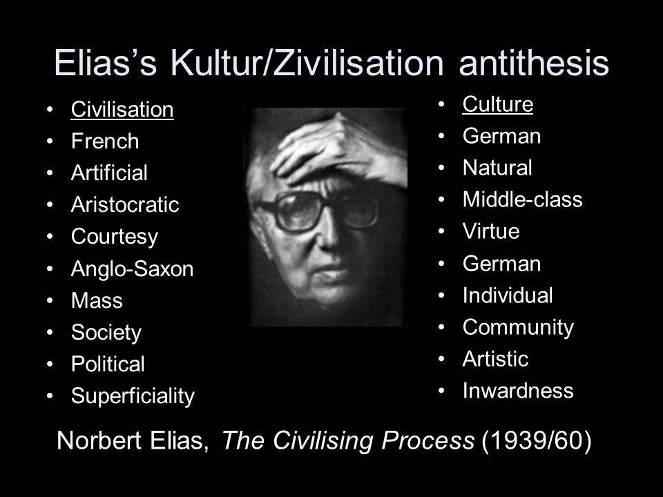 Elias's Kultur/Zivilisation antithesis
