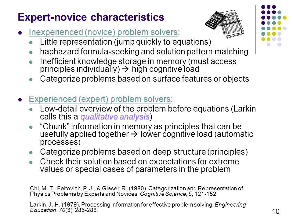 physics problem solving ppt video online 10 expert novice characteristics