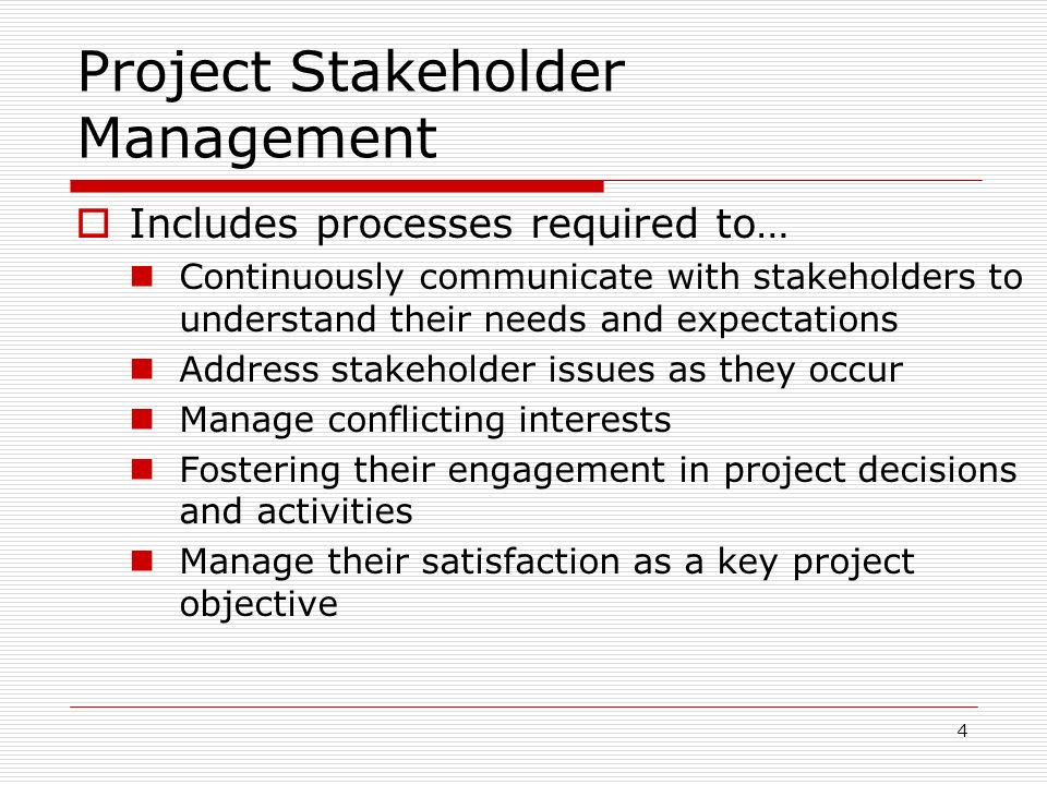 project stakeholder •stakeholder model - the purpose of the corporation is to serve a wider range of interests 2 the role of stakeholders good corporate governance helps to ensure.