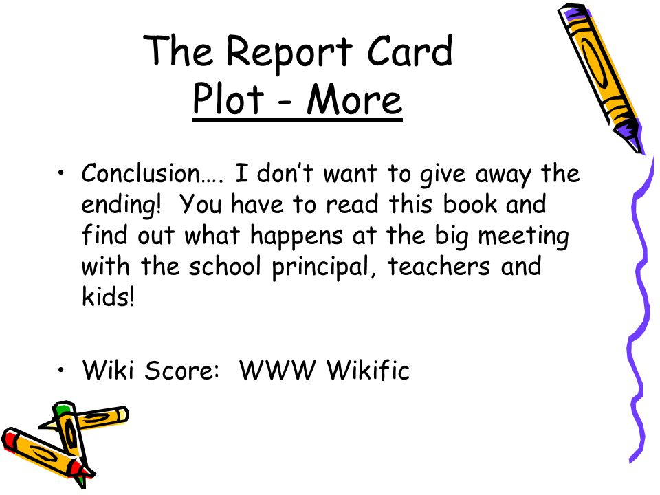 the report card book summary