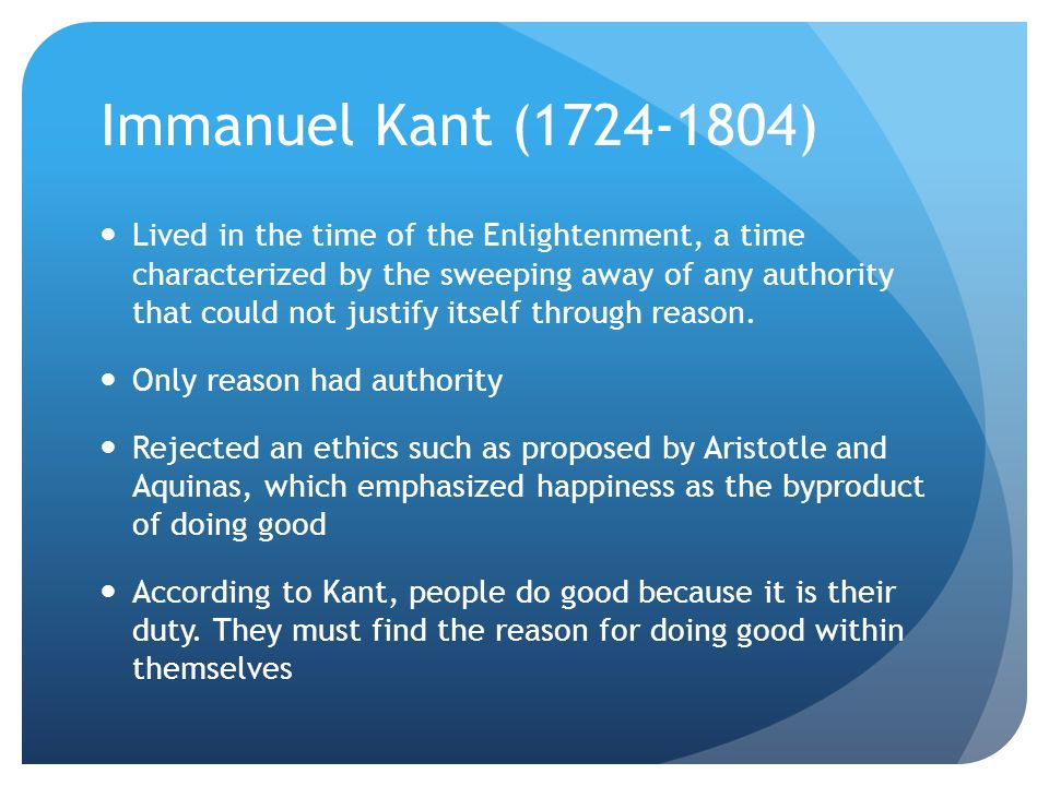 what is enlightenment according to kant essay Immanuel kant: what is enlightenment, 1784  something about which he has not freedom to teach according to his own lights it is  enlightenment in what he .