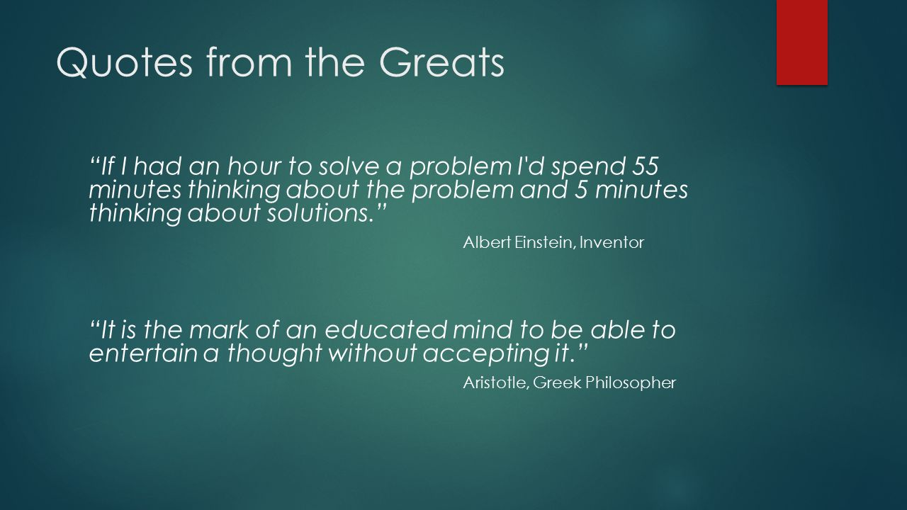 Albert einstein quotes about critical thinking
