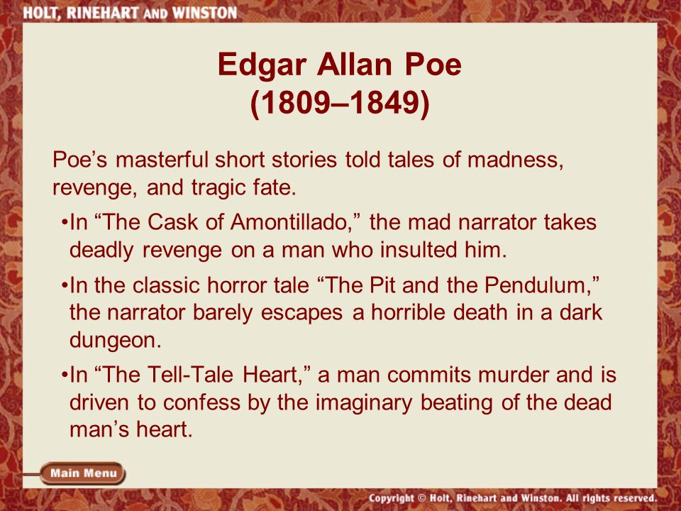 the balance of good and evil in the tell tale heart by edgar allan poe The tell tale heart essaysposistion paper - the tell-tale heart: interperative or escapist human nature is a delicate balance between good and evil most of the time.