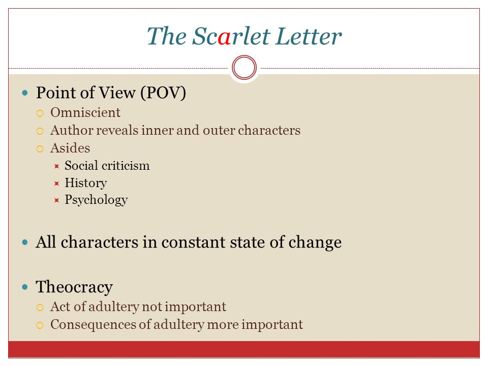 literary critisicm of the scarlet letter Marxism in the scarlet letter r v young was a professor of renaissance literature and literary criticism in the english department of north carolina state.