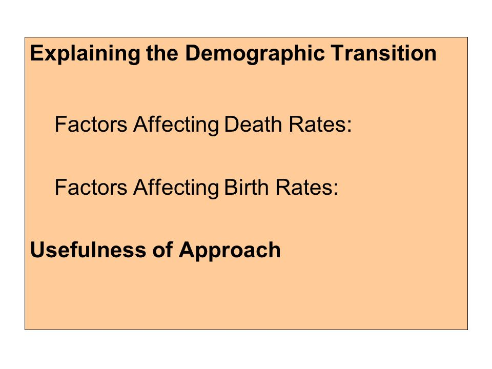 Factors Affecting Population Growth in Developing Countries
