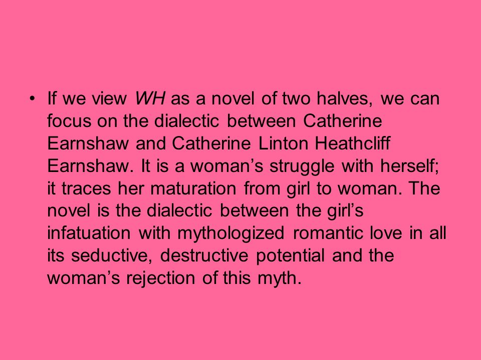 an analysis of the love between catherine and heathcliff in wuthering heights The self-destructive relationship in wuthering catherine & heathcliff in wuthering heights such a love between heathcliff and catherine that.