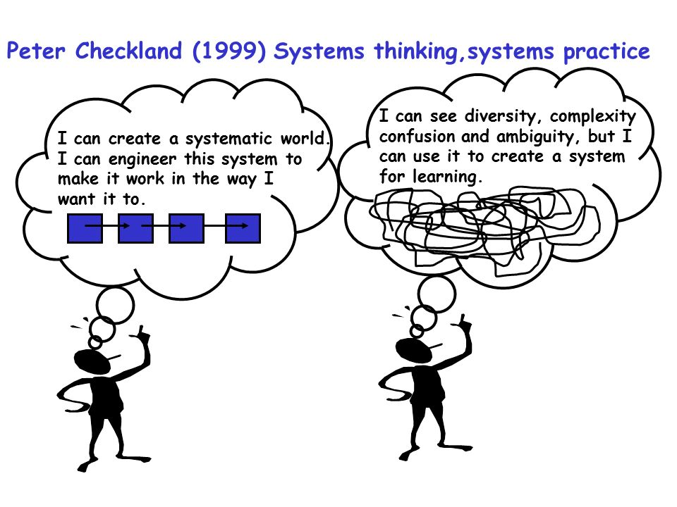 Peter Checkland (1999) Systems thinking,systems practice