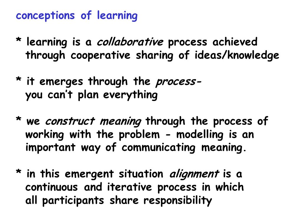 conceptions of learning