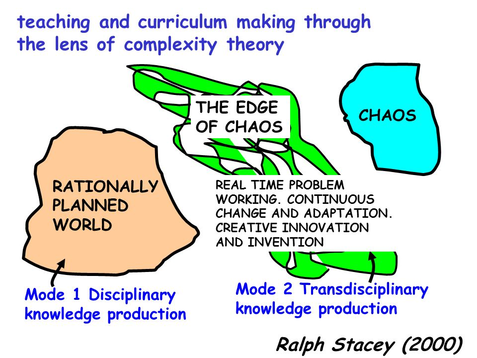 teaching and curriculum making through the lens of complexity theory