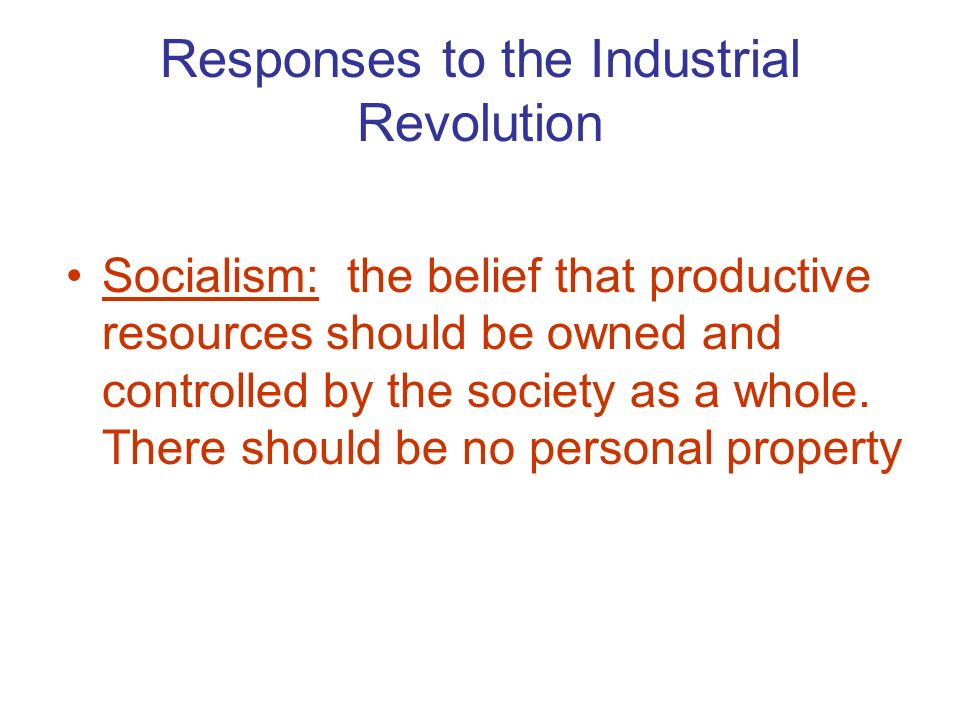 Personal Property In Socialism