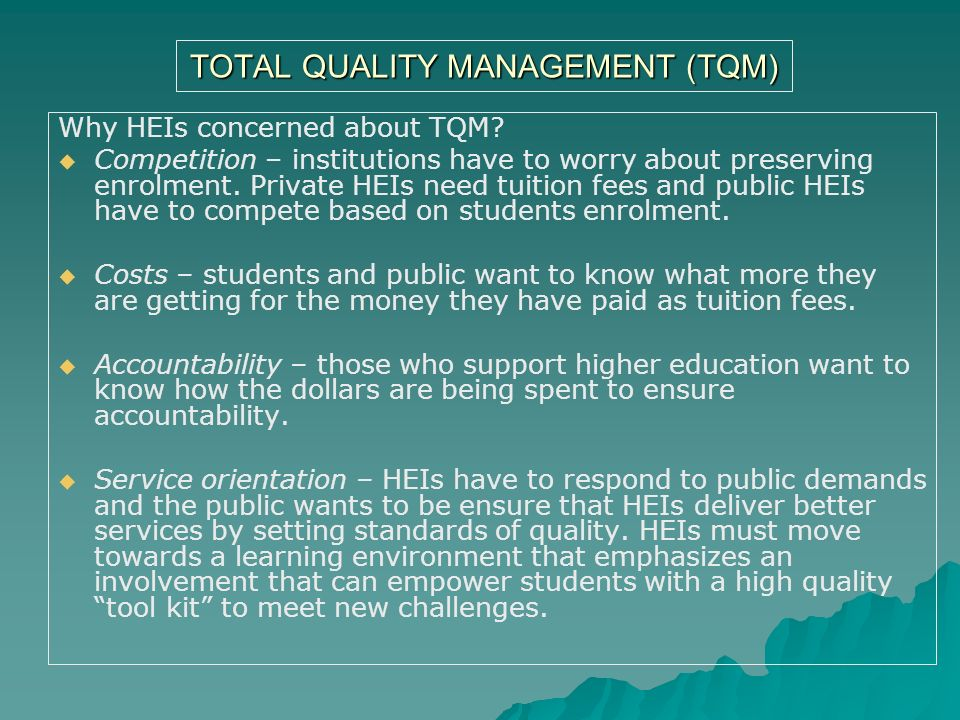total quality management in higher education 4th international conference on lean six sigma for higher education, may 25–26, 2017 105 stakeholder theory: implications for total quality management in higher education.