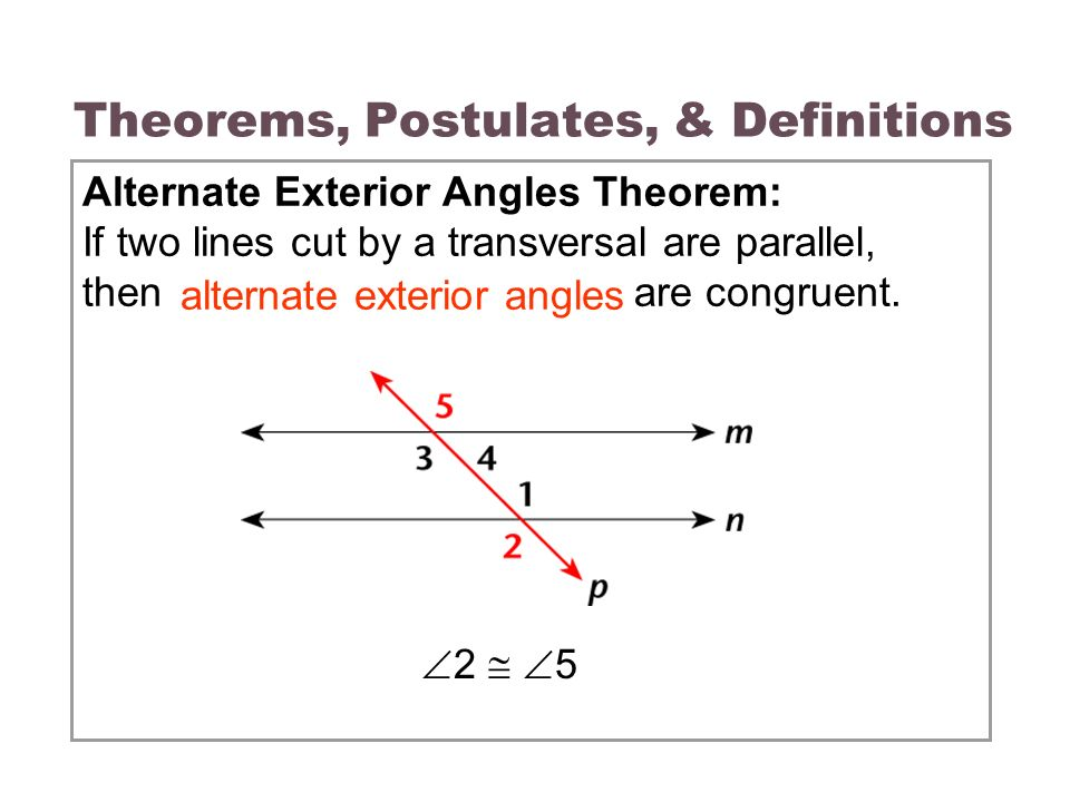 3 3 parallel lines transversals ppt video online download for Exterior angle theorem