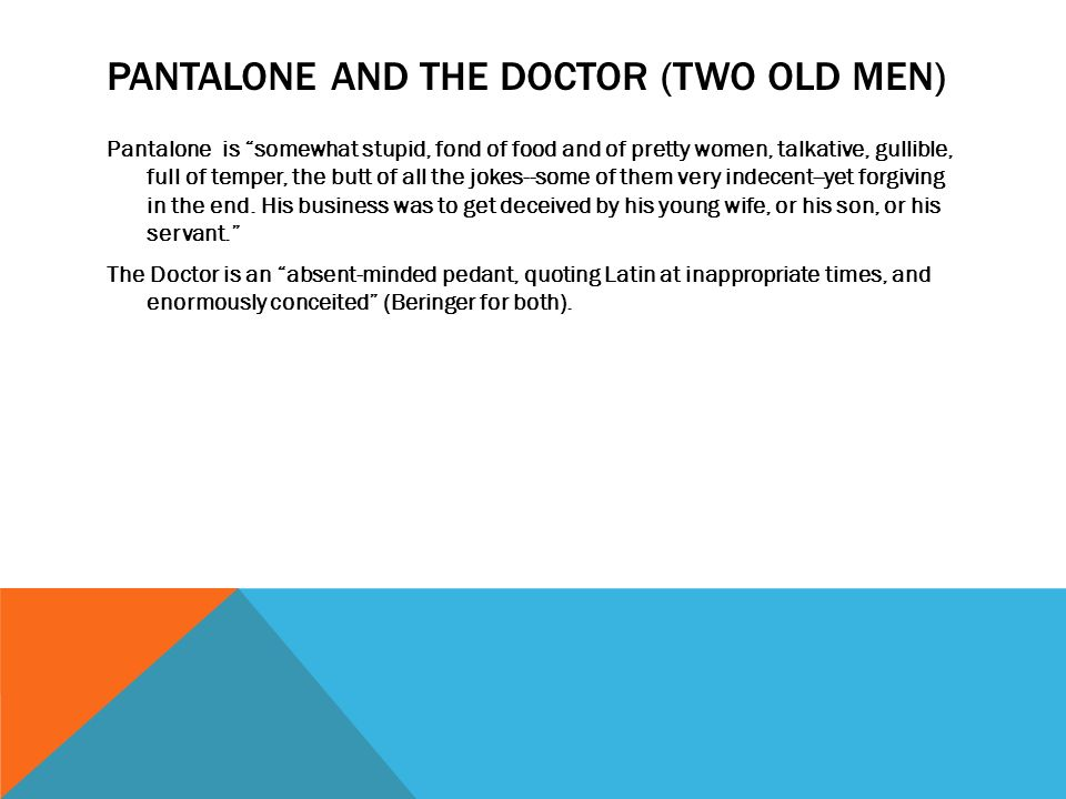 Pantalone and the Doctor (two old men)