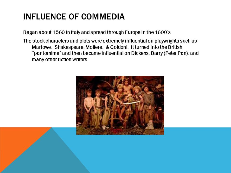 Influence of Commedia