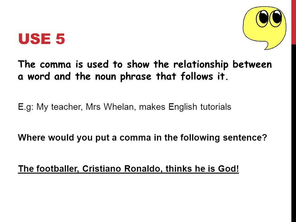 where do you put commas