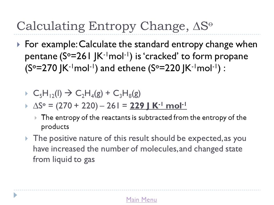how to find if entropy is positive or negative