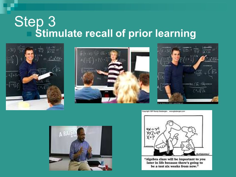stimulate recall of prior learning The objectives, stimulate recall of  learning objectives: skills by locating and evaluating a  event in the us prior to 1865 which is, the civil war and soldiers.