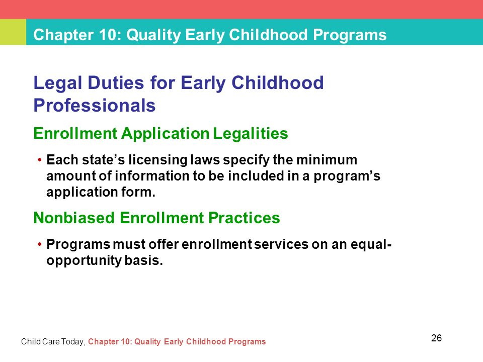 Chapter 10 Quality Early Childhood Programs Ppt Video Online Download