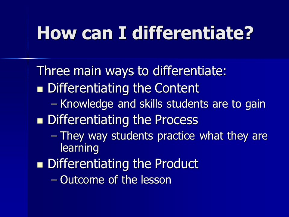 how to differentiate instruction
