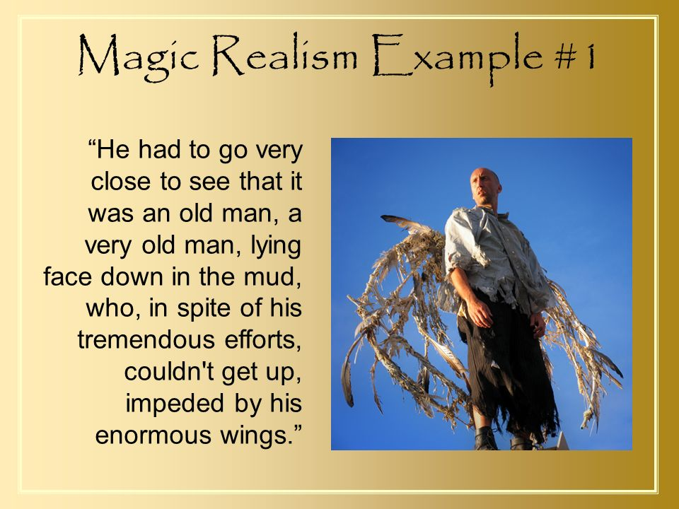 A Very Old Man With Enormous Wings Ppt Video Online Download