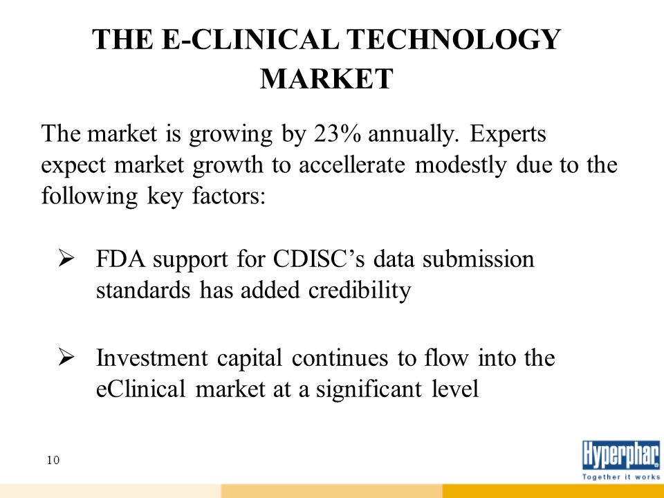 THE E-CLINICAL TECHNOLOGY MARKET