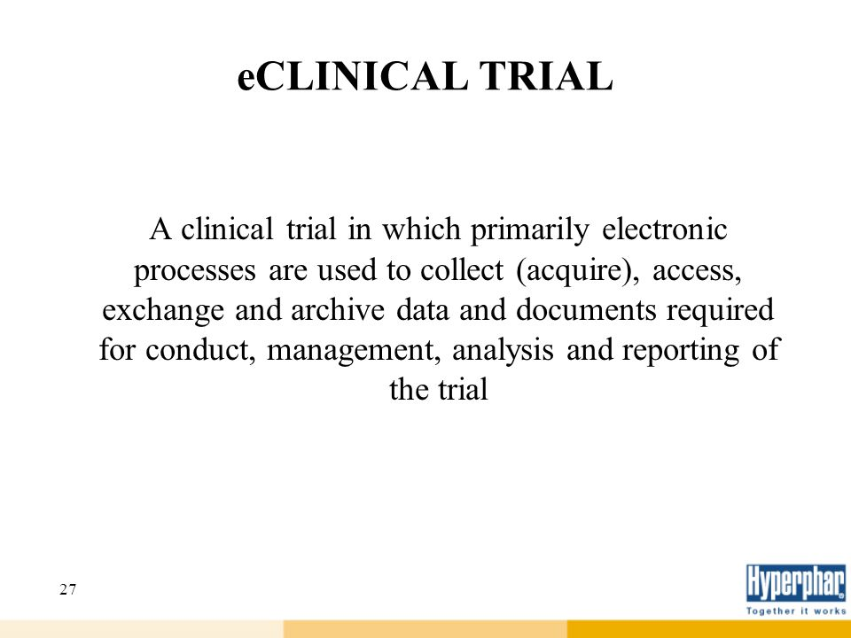 eCLINICAL TRIAL