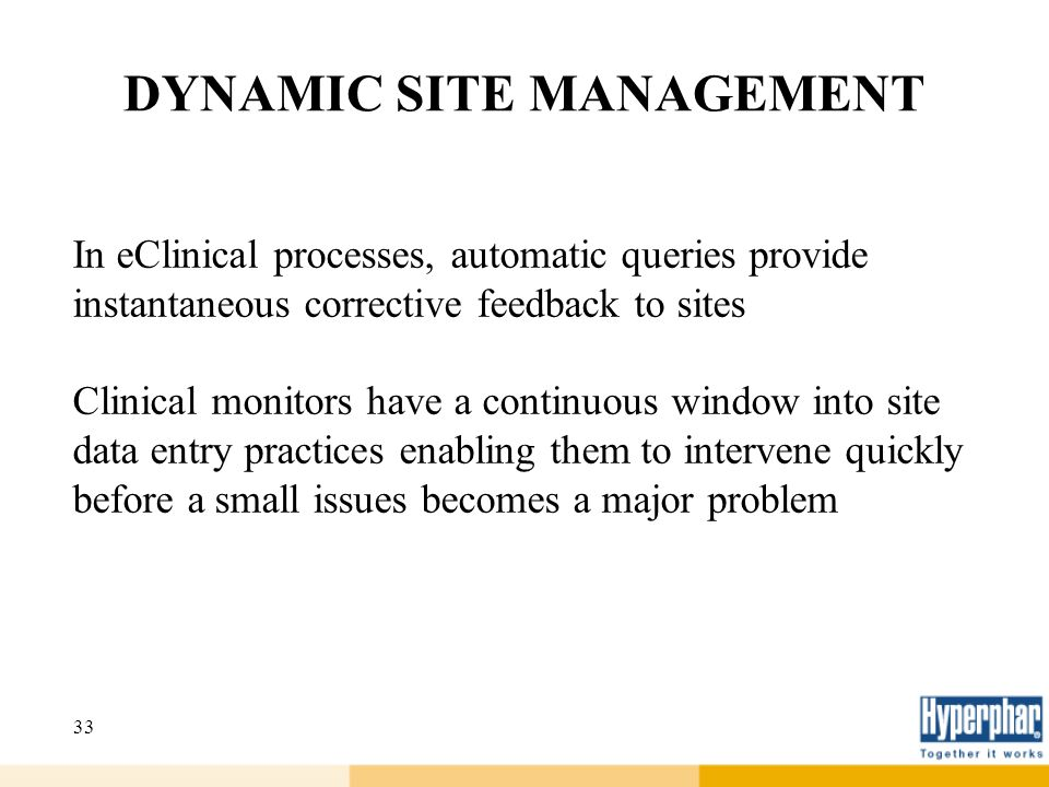 DYNAMIC SITE MANAGEMENT