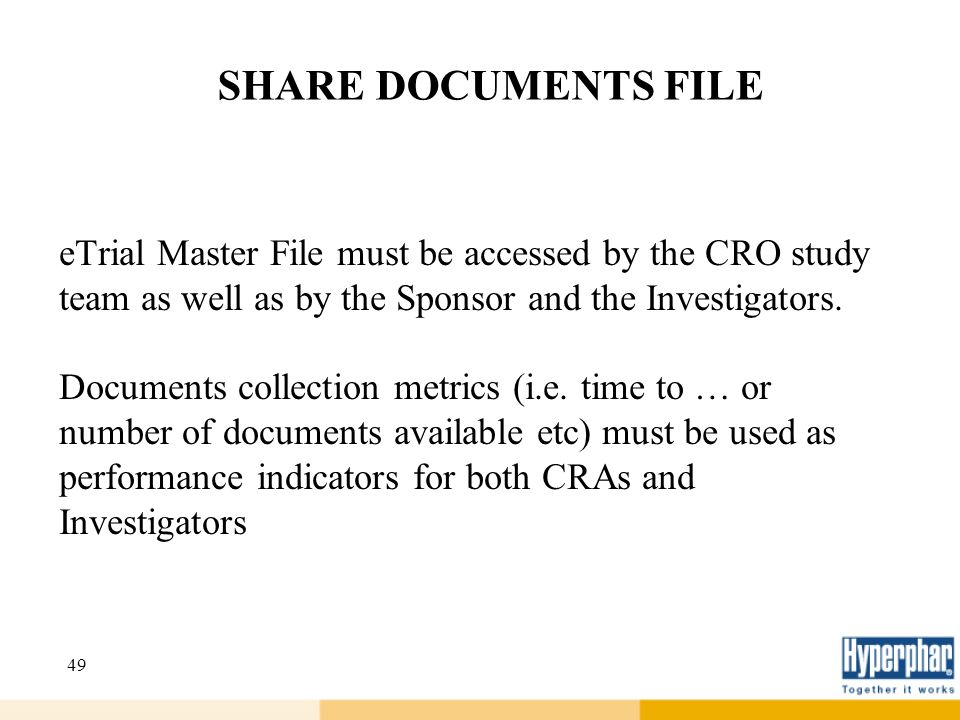 SHARE DOCUMENTS FILE