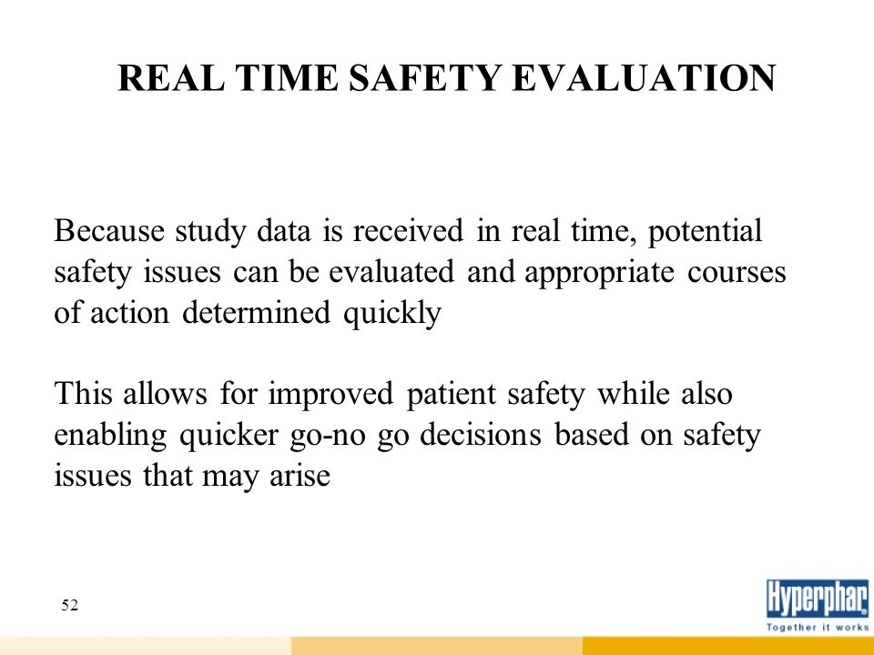 REAL TIME SAFETY EVALUATION