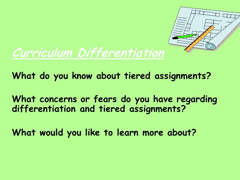 Curriculum Differentiation