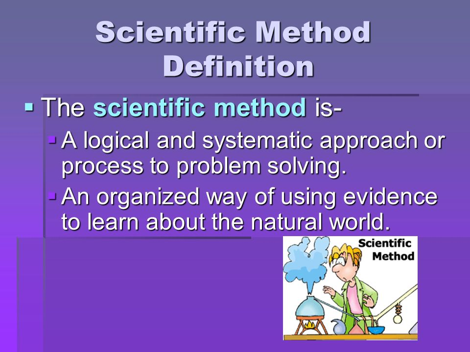 scientific method steps and definitions pdf