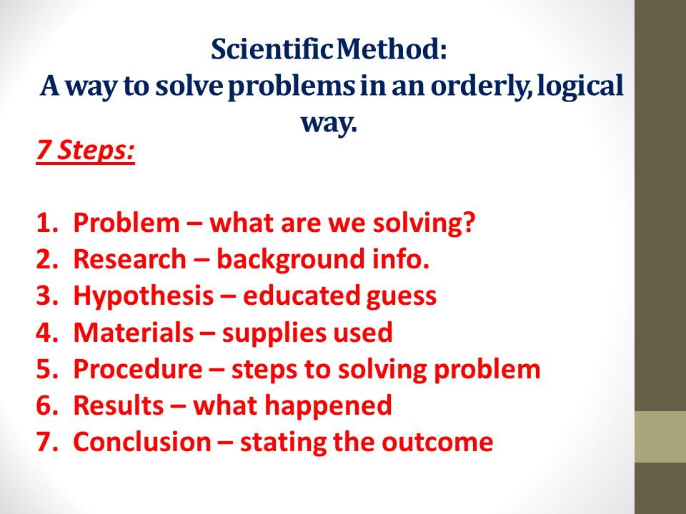 problems with the scientific method Define scientific method: principles and procedures for the systematic pursuit of knowledge involving the recognition and formulation of a problem,.