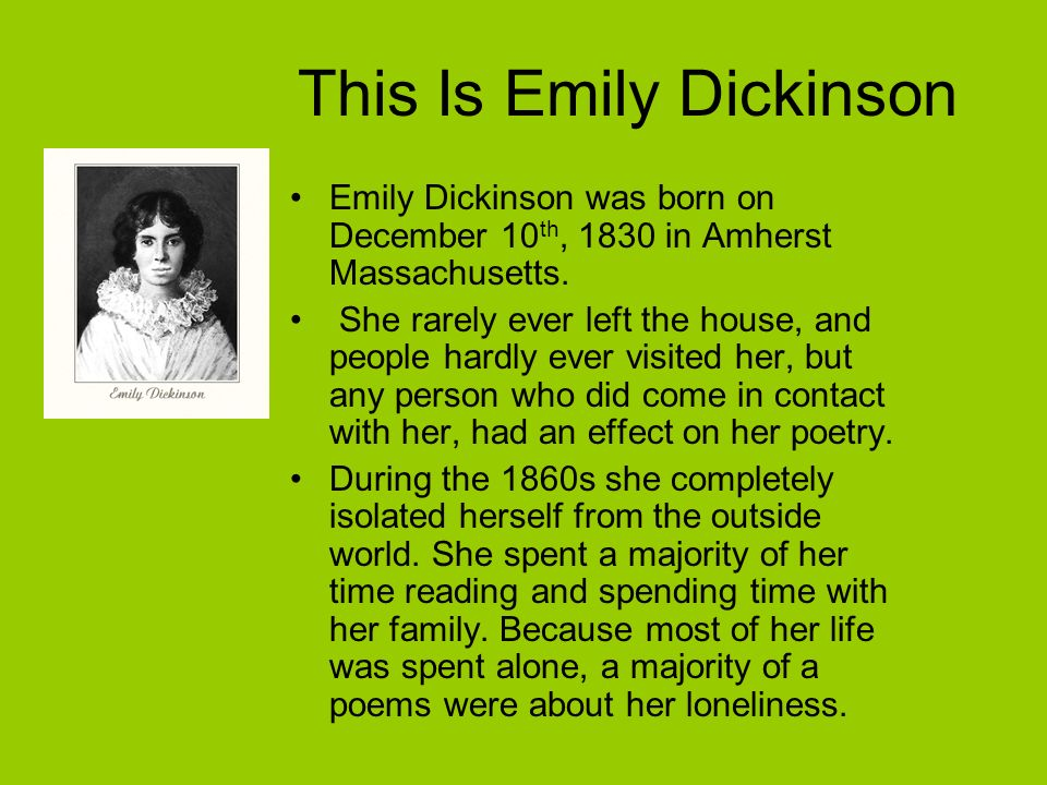 This Is Emily Dickinson