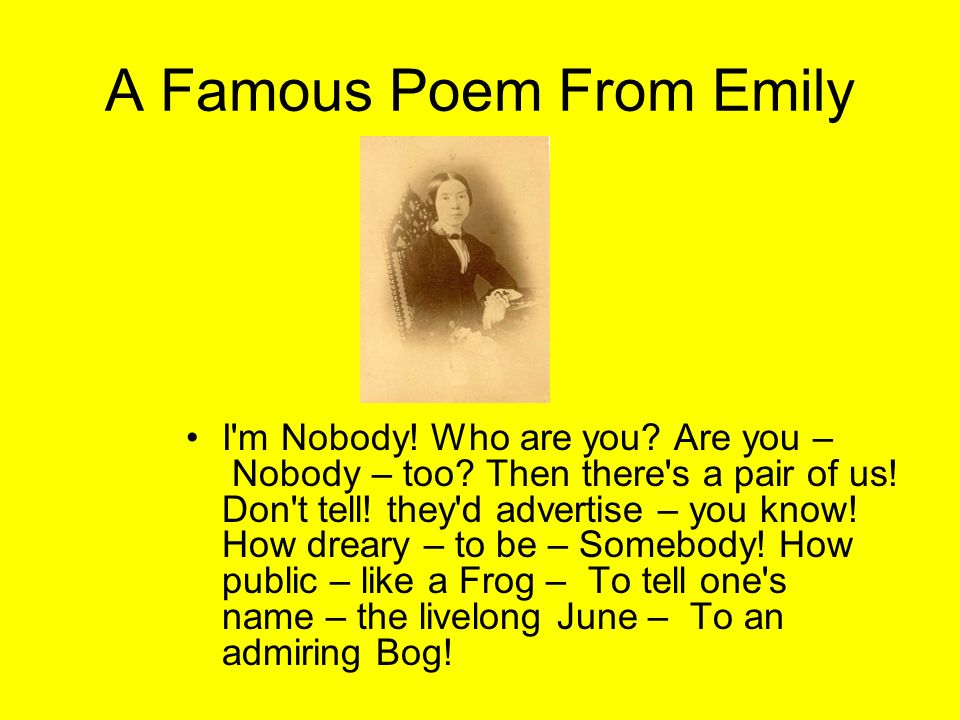 A Famous Poem From Emily