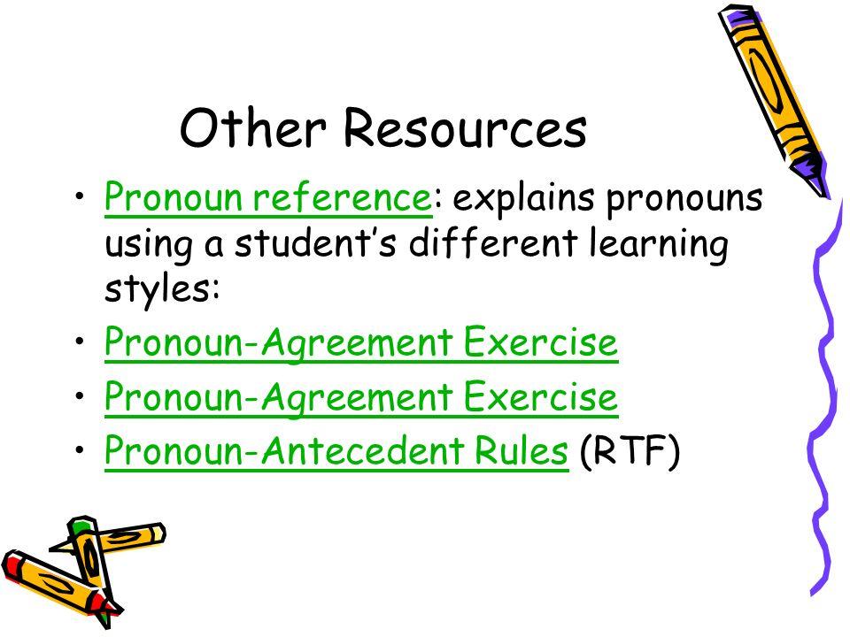 PronounAntecedent Agreement ppt download – Pronoun Antecedent Agreement Worksheets