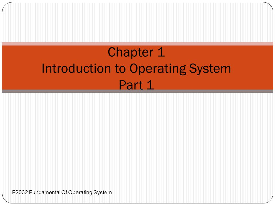 intro to pc operating system chapter1 Intro to pc operating system chapter1 essay chapter 1: introducing operating systems true/false 1 the operating system manages each.