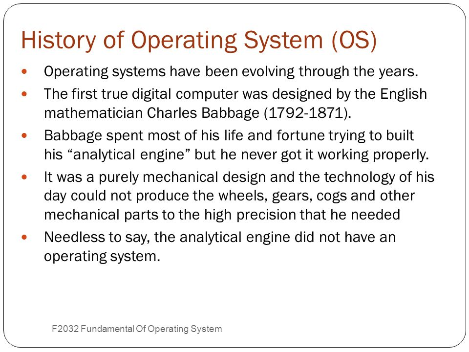 Chapter 1 Introduction To Operating System Part 1 Ppt