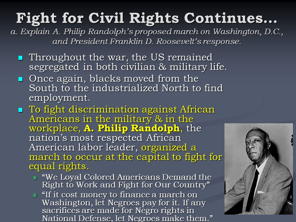 The african american fight for equality in the united states