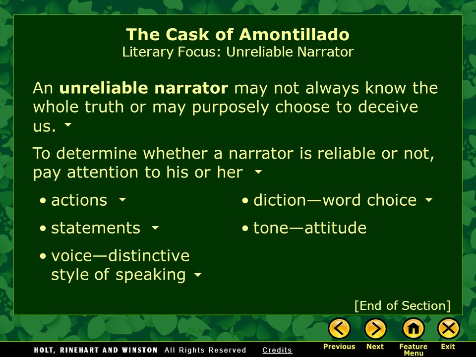 the cask of amontillado 4 essay 68 ˜ e a p the cask of amontillado fortunato had hurt me a thousand times and i had suffered quietly but then i learned that he had laughed at my proud name, montresor, the name of an old.