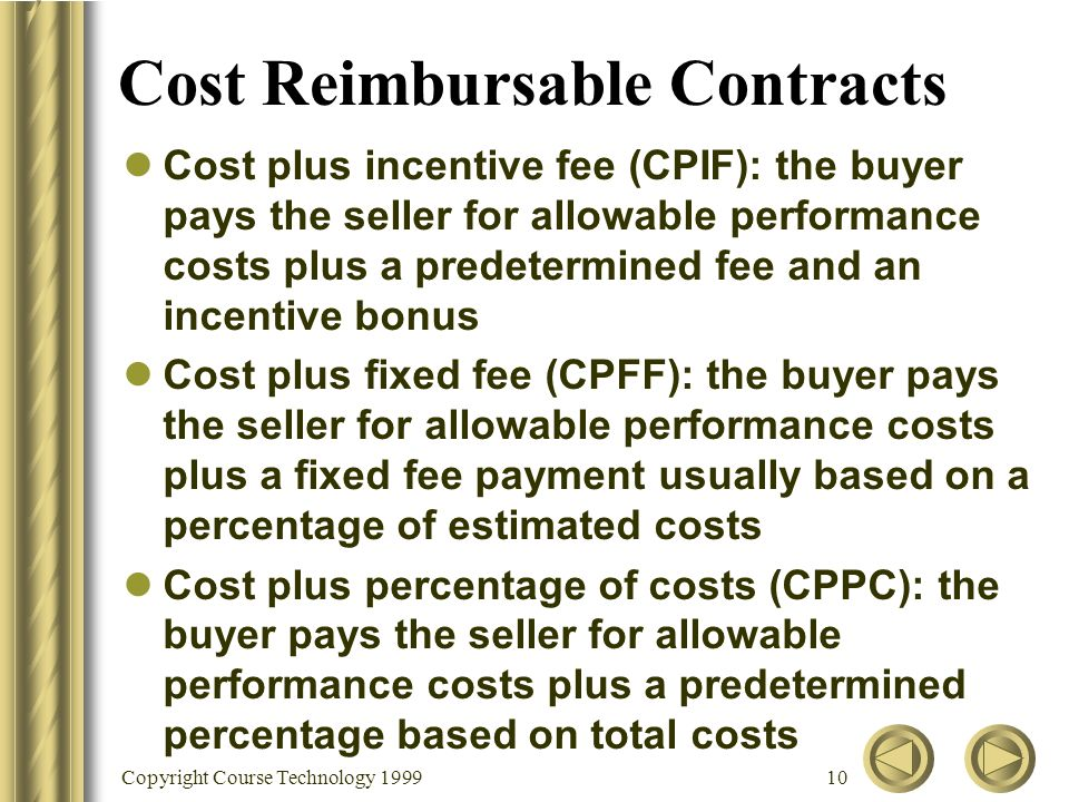 Chapter 11 project procurement management ppt download for Cost plus contract