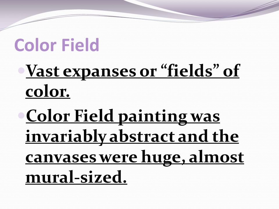 color field vast expanses or fields of color - Fields Of Color